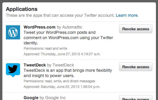 Twitter Applications List - Buffer Hack