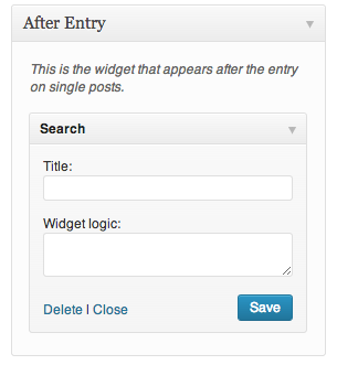 Using Widget Logic