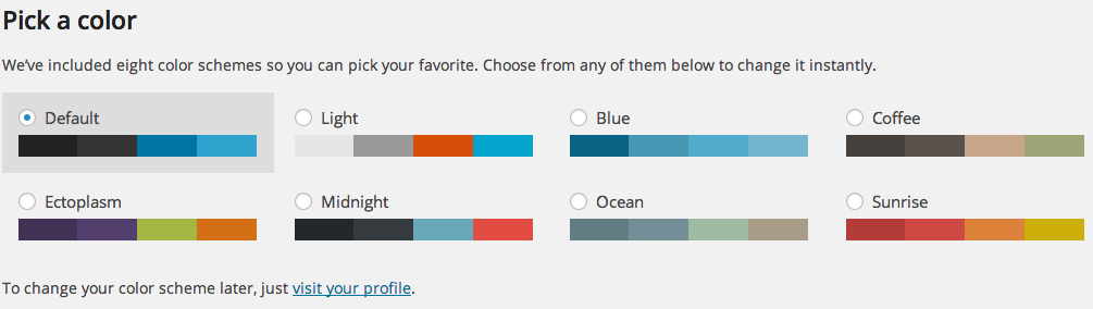WordPress 3.8: Pick a Color