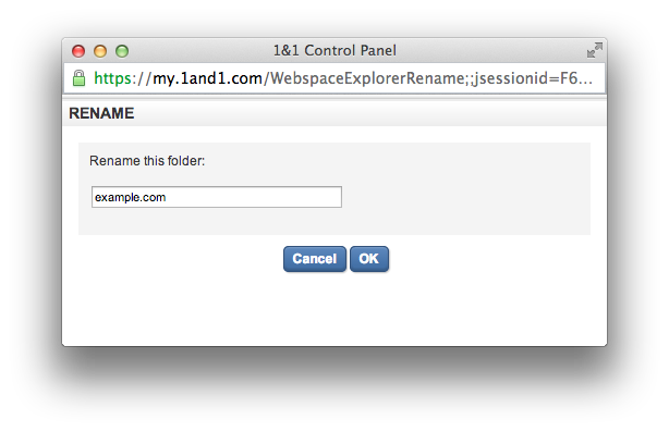 Webspace Explorer - Enter Folder Name
