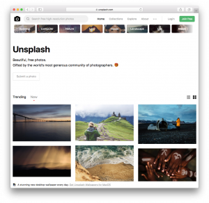 Unsplash.com Homepage